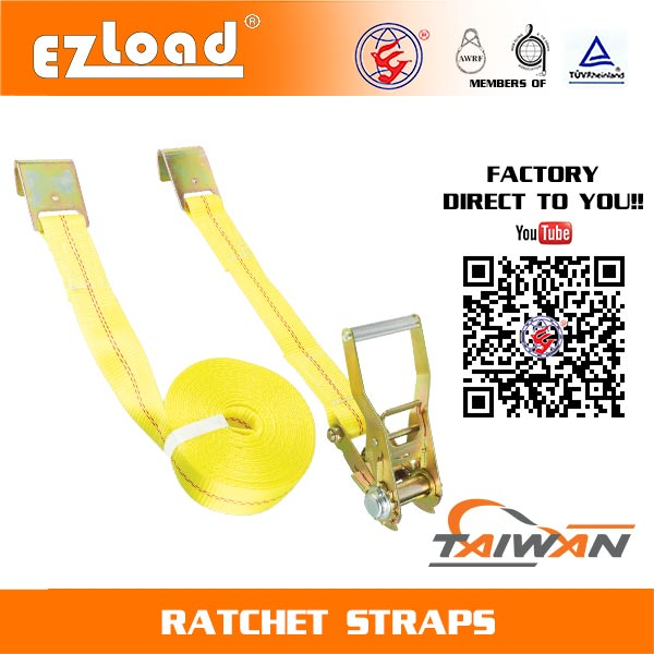 2 inch Ratchet Tie Down with Flat Hook