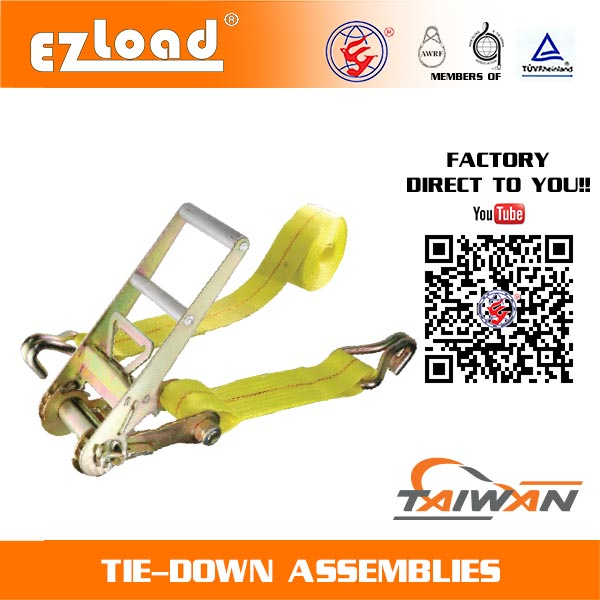 3 inch Ratchet Tie Down with Double J Hook