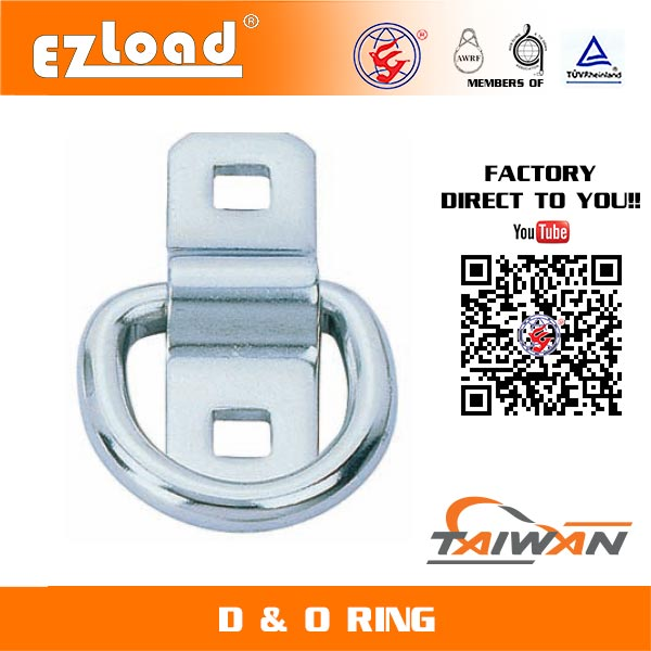 1-1/2 inch D Ring with Bracket Stainless Steel