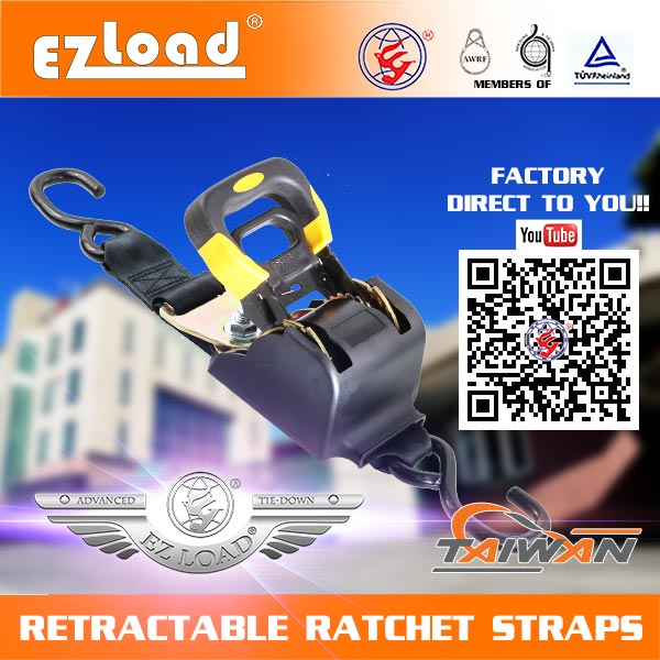 retractable ratchet tie down straps