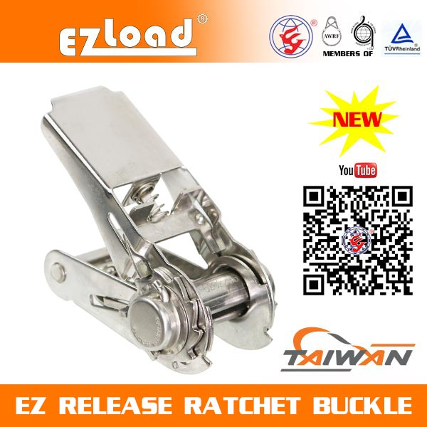 1 inch Light Duty Stainless Steel, EZ Release Ratchet buckle