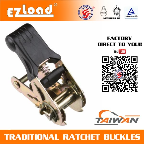 1 inch Light Duty, Soft Handle Ratchet Buckle