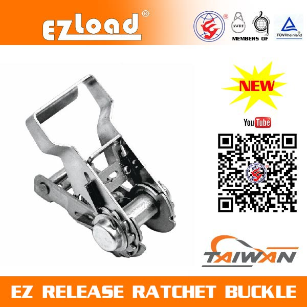 1 inch One Piece Wide Handle Stainless Steel, EZ Release Ratchet buckle