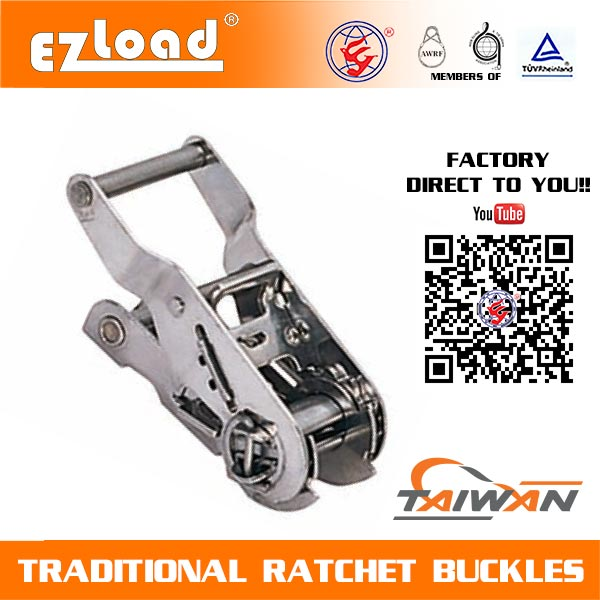 1 inch Wide Handle, Stainless Steel Ratchet Buckle
