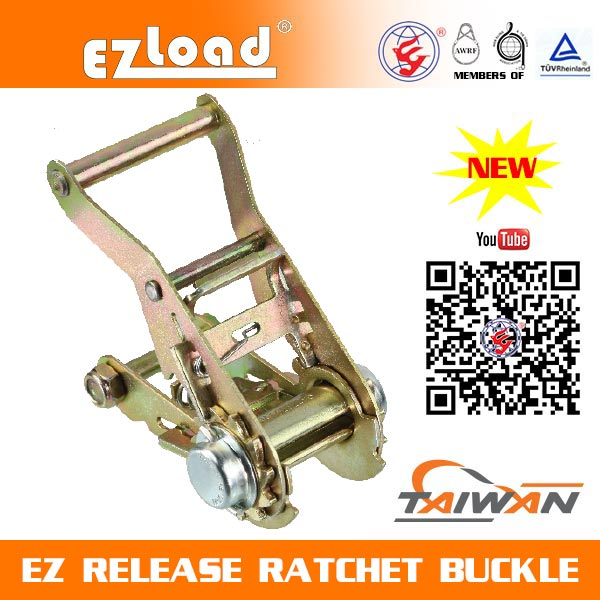 1-1/2 inch  Wide Handle, Non Lock, EZ Release Ratchet buckle
