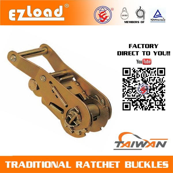 1-1/2 inch Wide Handle, Non Lock Ratchet Buckle