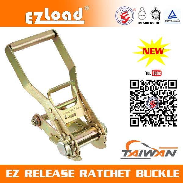 2 inch One Piece Handle, Double Security, EZ Release Ratchet buckle