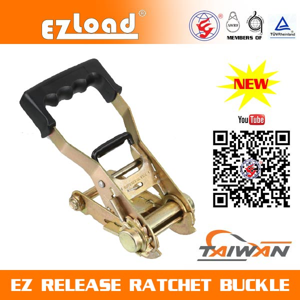 2 inch EZ Release Ratchet buckle with Soft Handle EZ Release Ratchet Buckle