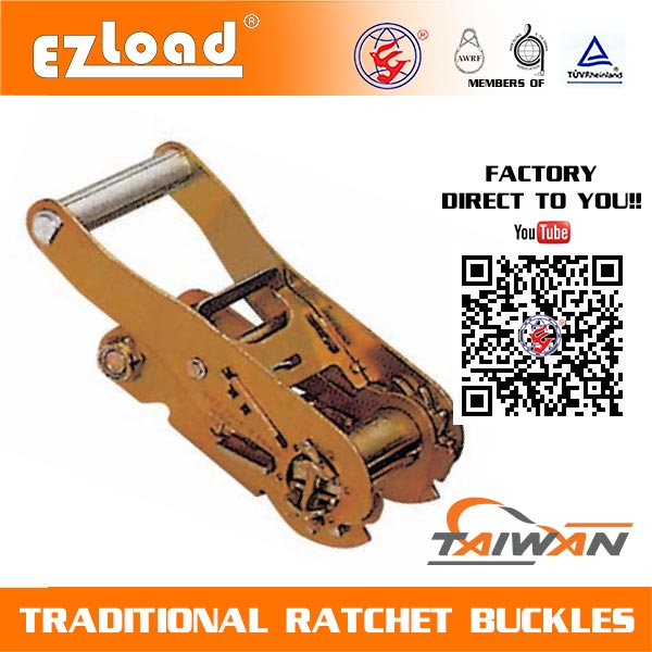 2 inch Medium Handle Double Security Lock Ratchet Buckle