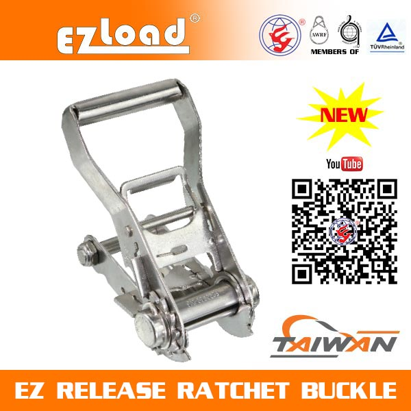 2 inch Mediem Handle, Double Security Lock, 304 Stainless Steel, EZ Release Ratchet buckle