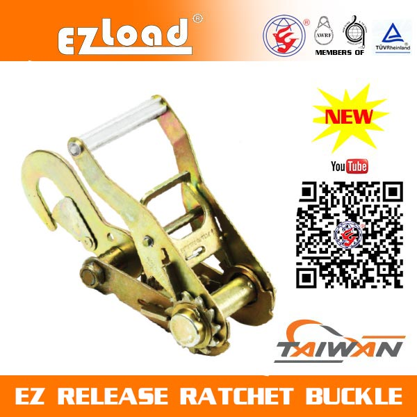 2 inch Medium Handle, Conversion Snap Hook, EZ Release Ratchet buckle
